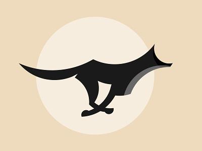 Running Wolf Illustration geometric wolf minimalist wolf dog icon dog logo wolf logo animal logo wolf icon wolf wolf illustration running dog