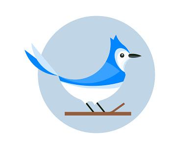 Blue Jay Illustration flat bird icon flat bluejay 2d character animal logo flat logo illustration blue jay illustration blue jay icon blue jay bluejay