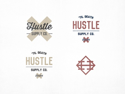 Hustle Supply Co. mark vintage logo font typography retro classic old hustle icon icons wordmark liberator lost type thirsty script vincent deming supply co