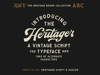 Heritager Script - Included in The Heritage Brand Collection