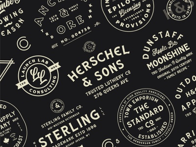 The Heritage Brand Collection wordmark texture typeface vintage logo logo lettering font retro typography vintage
