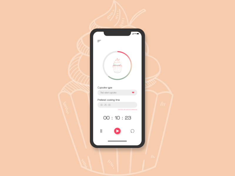 Daily UI - Timer flatdesign app affinity vector affinitydesigner figma design ui dailyuichallenge dailyui