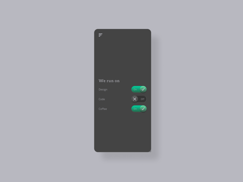 Daily UI - On/Off switch app ux figma design ui dailyuichallenge dailyui