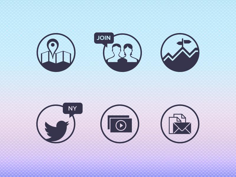 Web & Print Icons  icons web icons print icons map icon join icon street icon twitter icon video icon mail icon newsletter icon