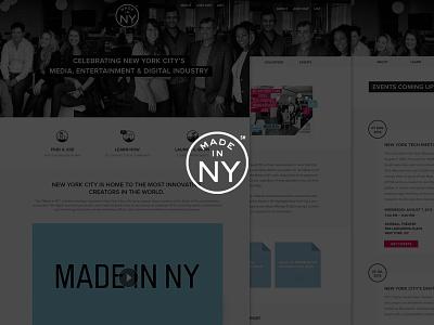 MADE IN NY made in ny web icons tech psd website flat new york