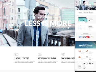 Grow Template grow html  css website web one page portfolio clean web design landing page template