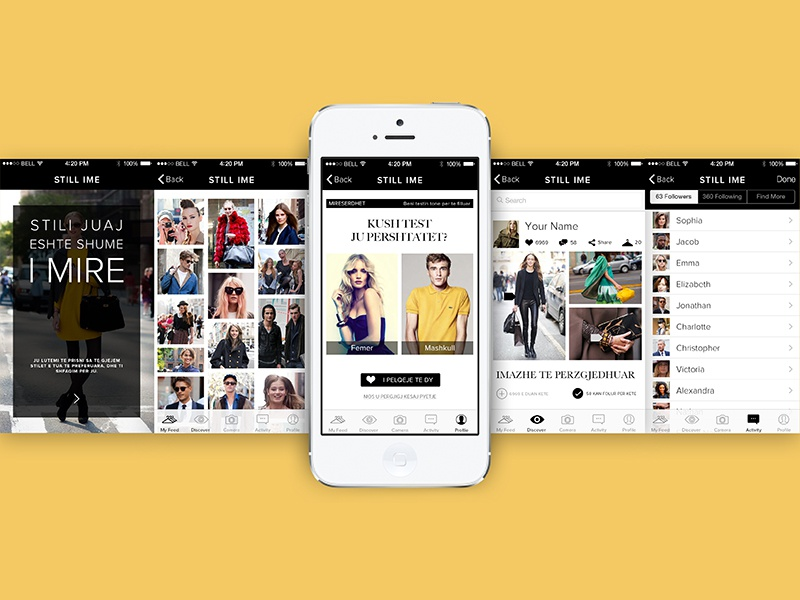 STILI IME - app  app mobile ui ux design application fashion