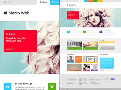 Metro Web - Wordpress Theme metro web wordpress theme colors website metro ui