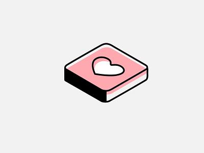 Isometric loading animation app ui branding vector isometric heart chat icon animation icon logo design animation loading loading animation