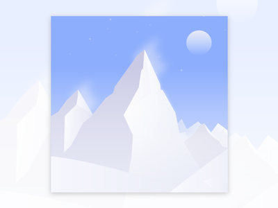 Winter vibes winter mountain landscape sky gradient snow