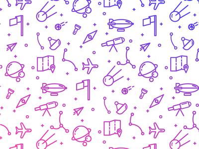 Explorers pattern! dribbble space icon pattern gradient explore