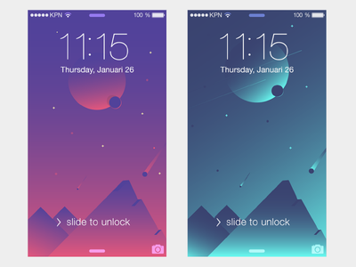 "Free phone wallpaper ""Space edition"" template free planet landscape gradient wallpaper space"