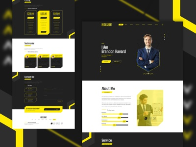 Reluse- Personal Portfolio Webui cv design resume ux ui logo inspire idea green dribbble design concept