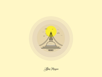 Boudhanath Stupa - Nepal (Vector Art) nepal kathmandu temple stupa boudhanath illustrator designs graphics art