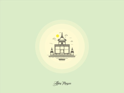 Ranipokhari - Nepal (Vector Art) nepal kathmandu temple ranipokhari illustrator designs graphics art