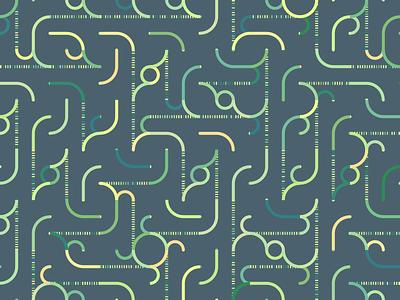 Syclone processing generative pattern wallpaper