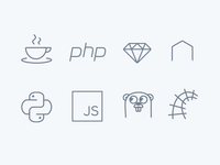 Platform icon set