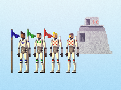 LastHope Characters design character voxel qubicle