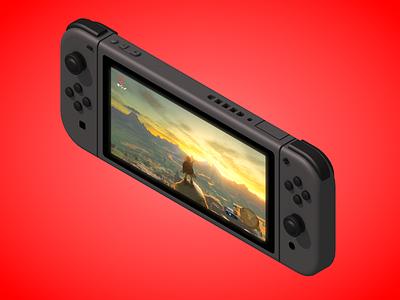 Nintendo Switch 3d switch nintendo isometric