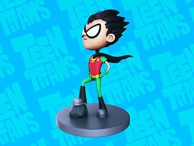 Teen Titans: Robin robin zbrush teen titans