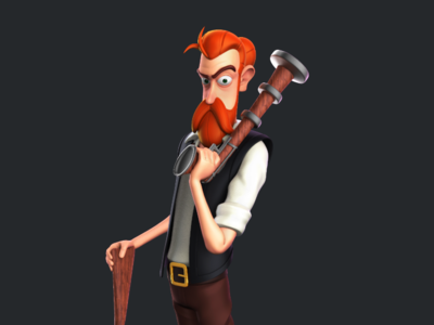 Pirate zbrush character design 3d