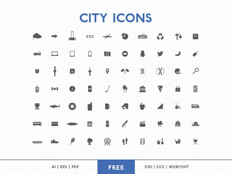 City Icons toronto sag city icons freebie free webfont free download psd iconset font vector