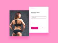 Women Fitness Site -  Weekend UI