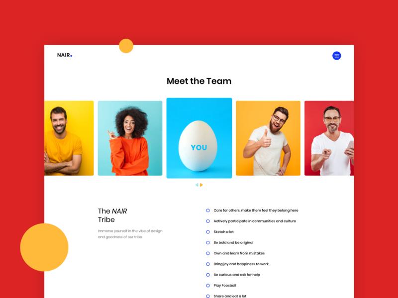 UI - Career Page career careers page hire apply application team job branding app sketch single page ux ui user experience minimal website user interface design