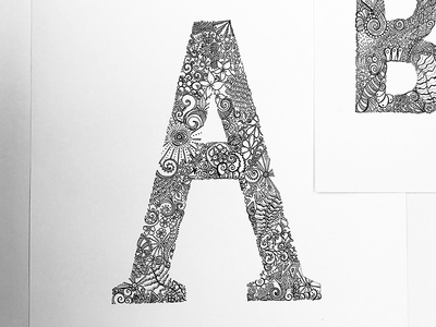 Intricate letters letters sketch pattern drawing illustration typography
