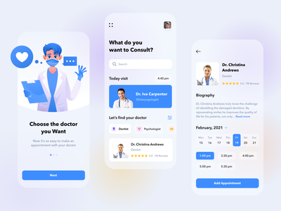 Healthcare App onboarding ui onboarding top blue medicine doctor app doctor 2021 design 2021 trend trend illustration apple ios mobile app design ukraine ux ui lviv