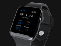 Flight tickets app concept for Apple Watch