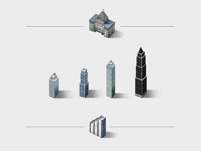 Skyscrapers & municipal buildings