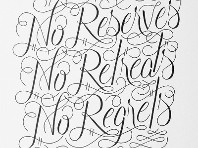 William Borden Quote typography calligraphy hand lettering