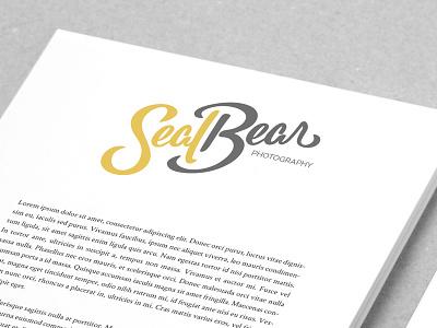 Seal Bear Branding logo design hand lettering