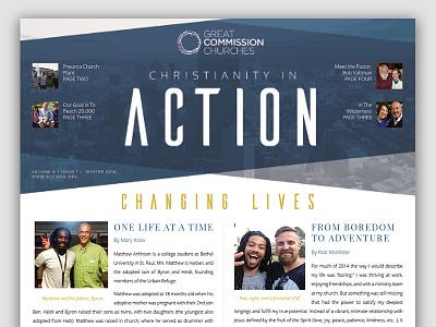 Church Newsletter church brochure redesign newsletter