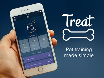 Vetta Treat App training pets iphone app