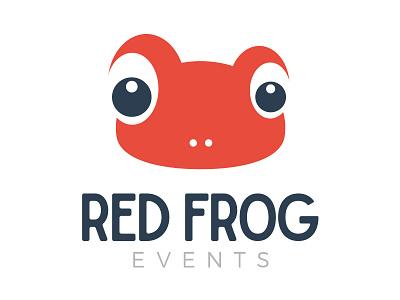 Red Frog events branding logotype logomark logo design design logo