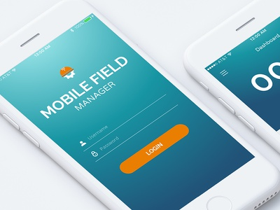 Mobile Field Manager ux ui material mobile phone account ios login iphone flat app