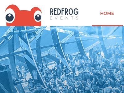 Red Frog Redesign Fun yum color flat simple responsive website logo red frog