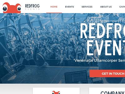 Red Frog Homepage website color clean flat web design design homepage red frog