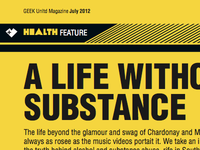 Geek UNLTD Magazine Health Feature Page