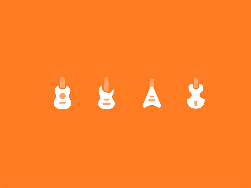 Instrument Icon #1 icons solid icon classic minimal music guitar instrument