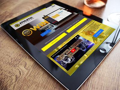 Athletic Standard   iPad layout ( UI / UX design )