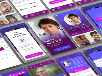 Patient Journey UX design for physician bio adobe xd madewithxd adobexd