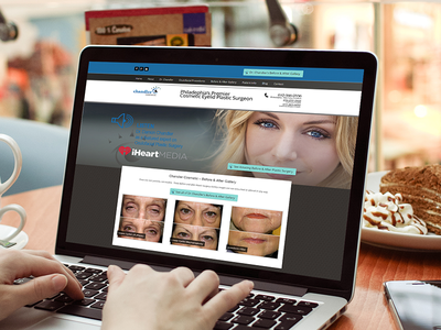 UX / UI design concept for ophthalmology physician group user experience user interface ui ux