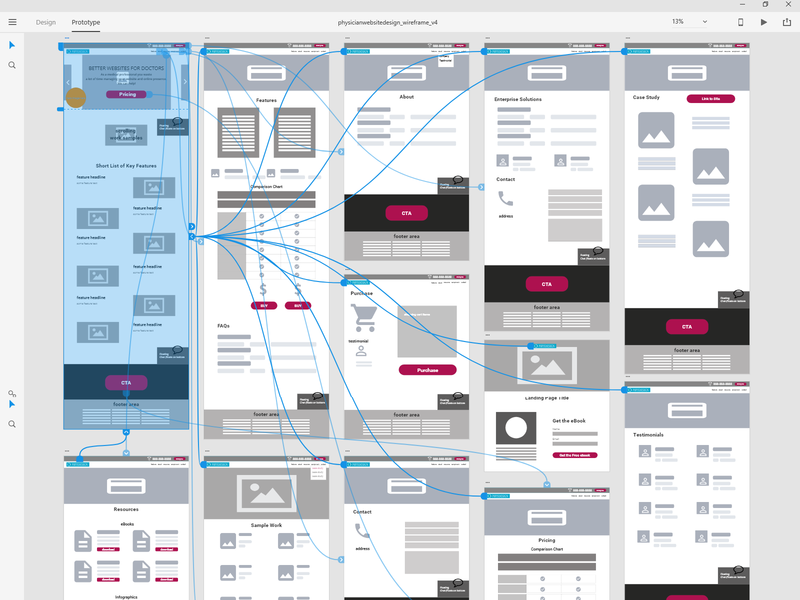 Snapshot of Wireframe #WIP