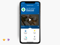 Animated Prototype of Security System App | Sketch to Principle