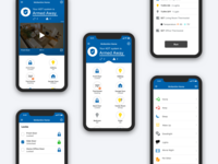 Screenshots of UI for Control App