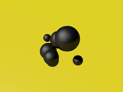 #1 spheres sphere abstraction abstract clean yellow black art c4d 3d animation