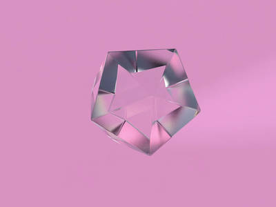 #3 gif c4dart crystal gem crystal pink clean 3dart 3d diamond glass art c4d animation ui
